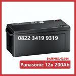 Aki Solar Cell Panasonic 12v 200Ah