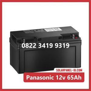 Panasonic baterai kering 12v 65Ah baterai panel surya