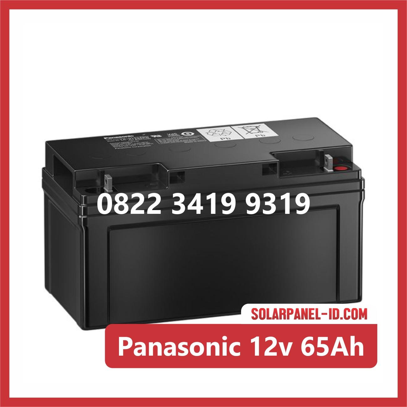 Aki Solar Cell Panasonic 12v 65Ah