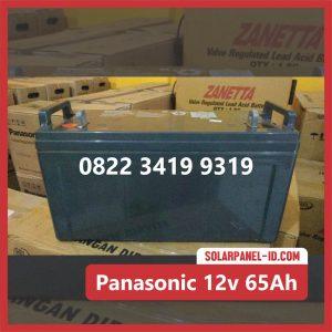 Panasonic baterai kering 12v 65Ah baterai pju tenaga surya