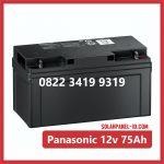 Aki Solar Cell Panasonic 12v 75Ah