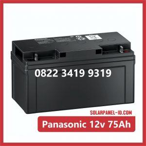 Panasonic baterai kering 12v 75ah baterai panel surya