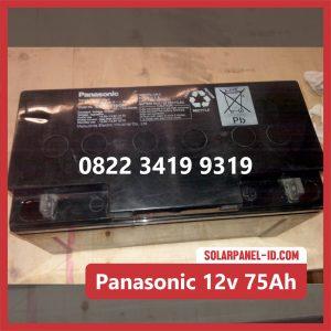Panasonic baterai kering 12v 75ah baterai pju tenaga surya
