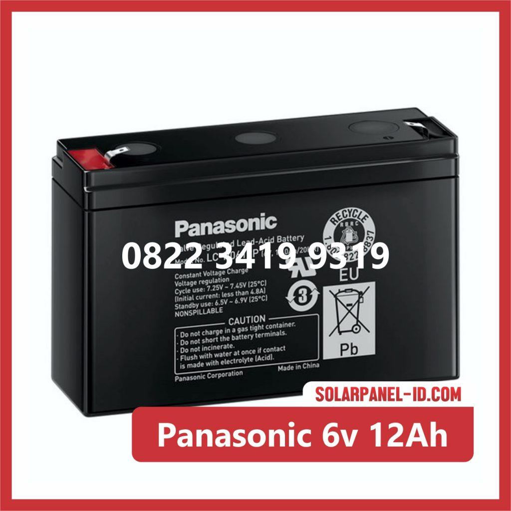 Panasonic baterai kering 6v 12Ah baterai ups