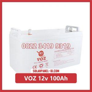 VOZ baterai kering 12v 100ah baterai panel surya