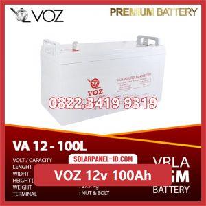 VOZ baterai kering 12v 100ah baterai pju tenaga surya