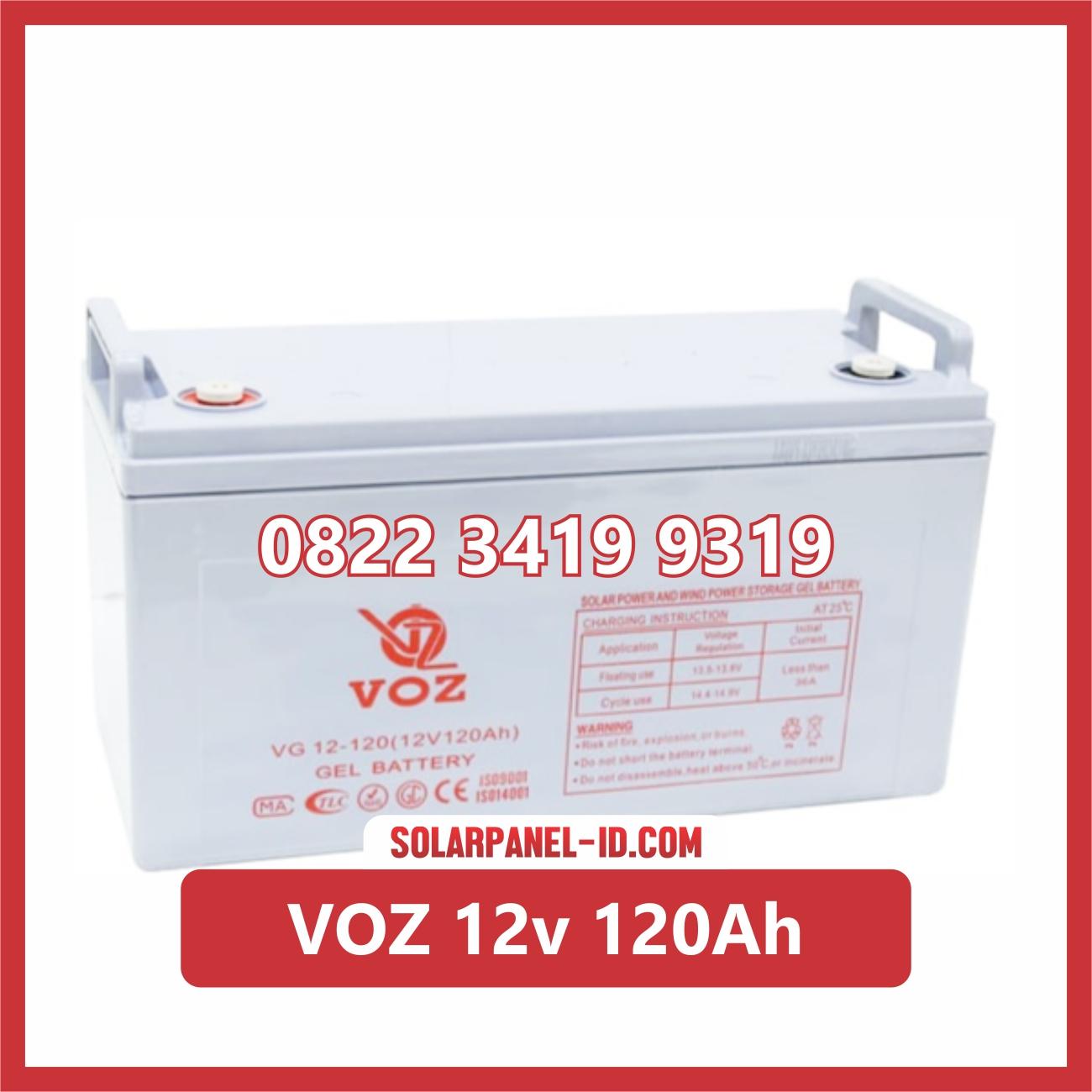 VOZ baterai kering 12v 120ah baterai panel surya