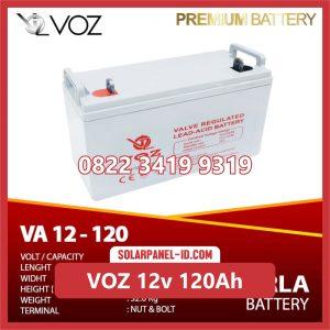 VOZ baterai kering 12v 120ah baterai pju tenaga surya