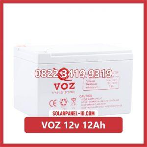 VOZ baterai kering 12v 12Ah baterai panel surya