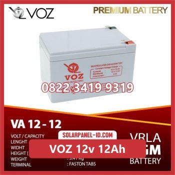 VOZ baterai kering 12v 12Ah baterai solarcell