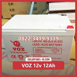 VOZ baterai kering 12v 12Ah baterai ups