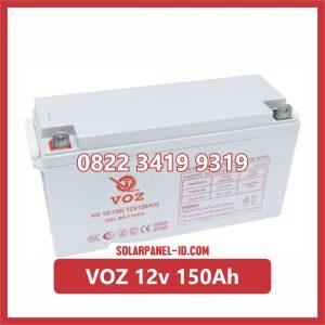VOZ baterai kering 12v 150ah baterai pju tenaga surya