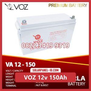 VOZ baterai kering 12v 150ah baterai panel surya
