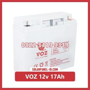 VOZ baterai kering 12v 17Ah baterai panel surya