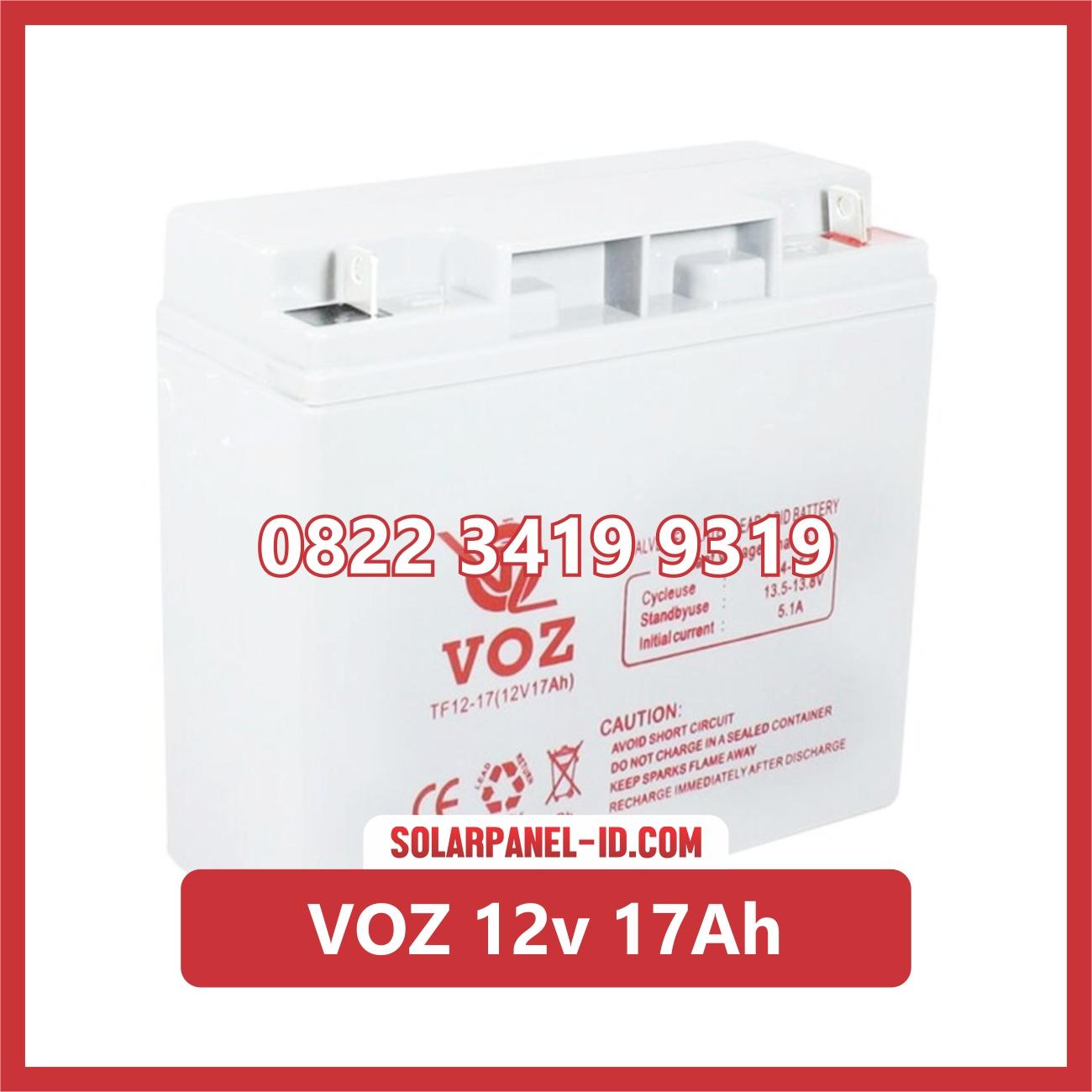 Aki Solar Cell VOZ 12v 17Ah