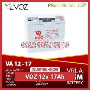 VOZ baterai kering 12v 17Ah baterai solarcell