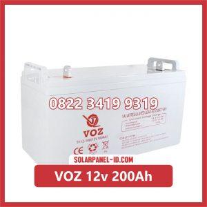 VOZ baterai kering 12v 200ah baterai panel surya