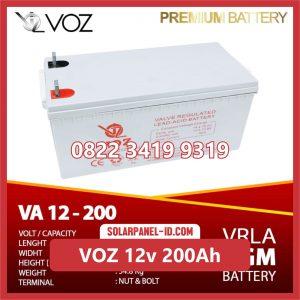 VOZ baterai kering 12v 200ah baterai solarcell