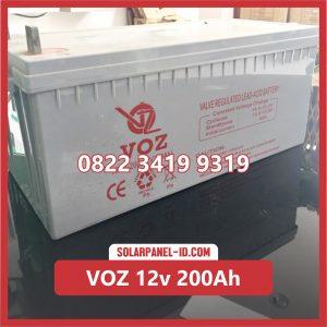 VOZ baterai kering 12v 200ah baterai pju tenaga surya