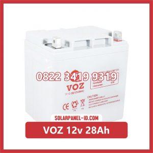 VOZ baterai kering 12v 28Ah baterai solarcell