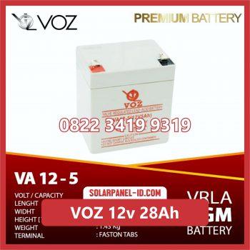 VOZ baterai kering 12v 28Ah baterai panel surya