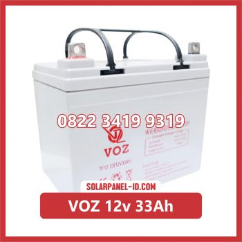 VOZ baterai kering 12v 33Ah baterai panel surya