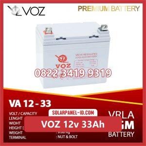 VOZ baterai kering 12v 33Ah baterai solarcell