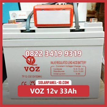 VOZ baterai kering 12v 33Ah baterai pju tenaga surya