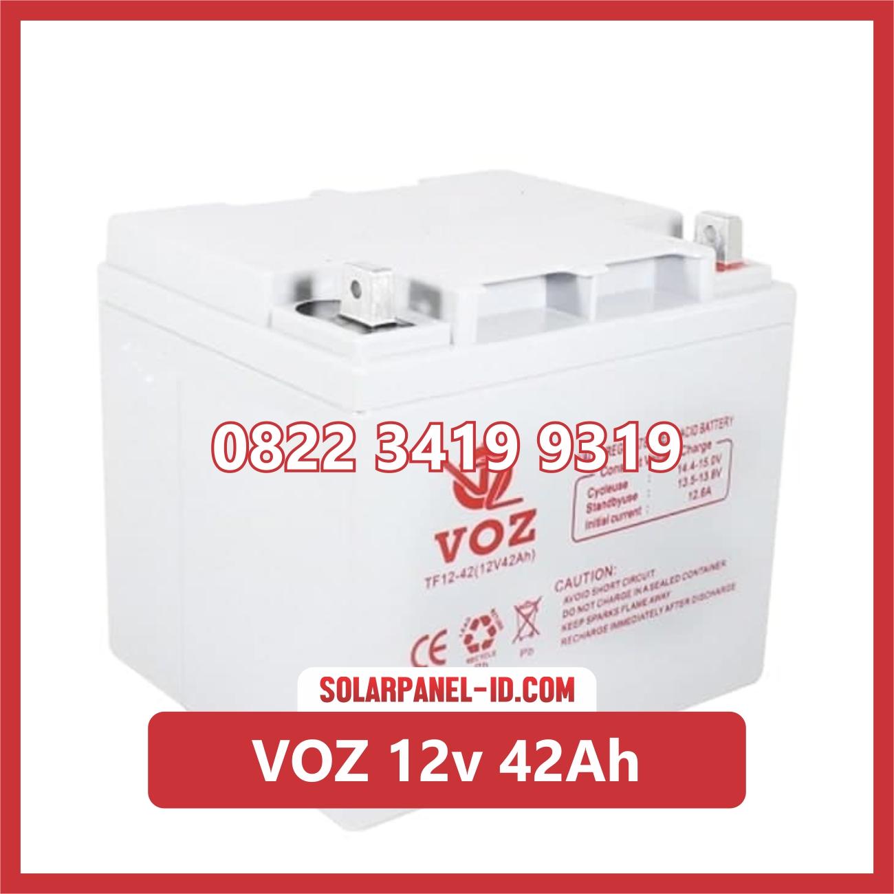 VOZ baterai kering 12v 42Ah baterai panel surya