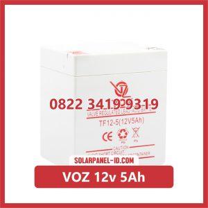VOZ baterai kering 12v 5Ah baterai panel surya