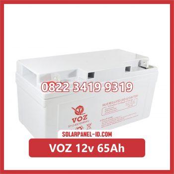 VOZ baterai kering 12v 65Ah baterai panel surya
