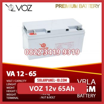 VOZ baterai kering 12v 65Ah baterai solarcell