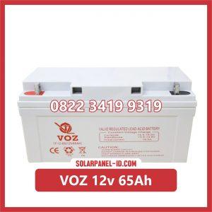 VOZ baterai kering 12v 65Ah baterai pju tenaga surya