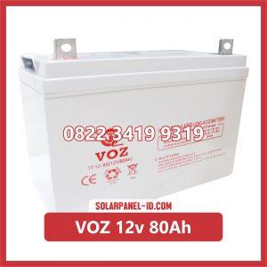 VOZ baterai kering 12v 80Ah baterai panel surya