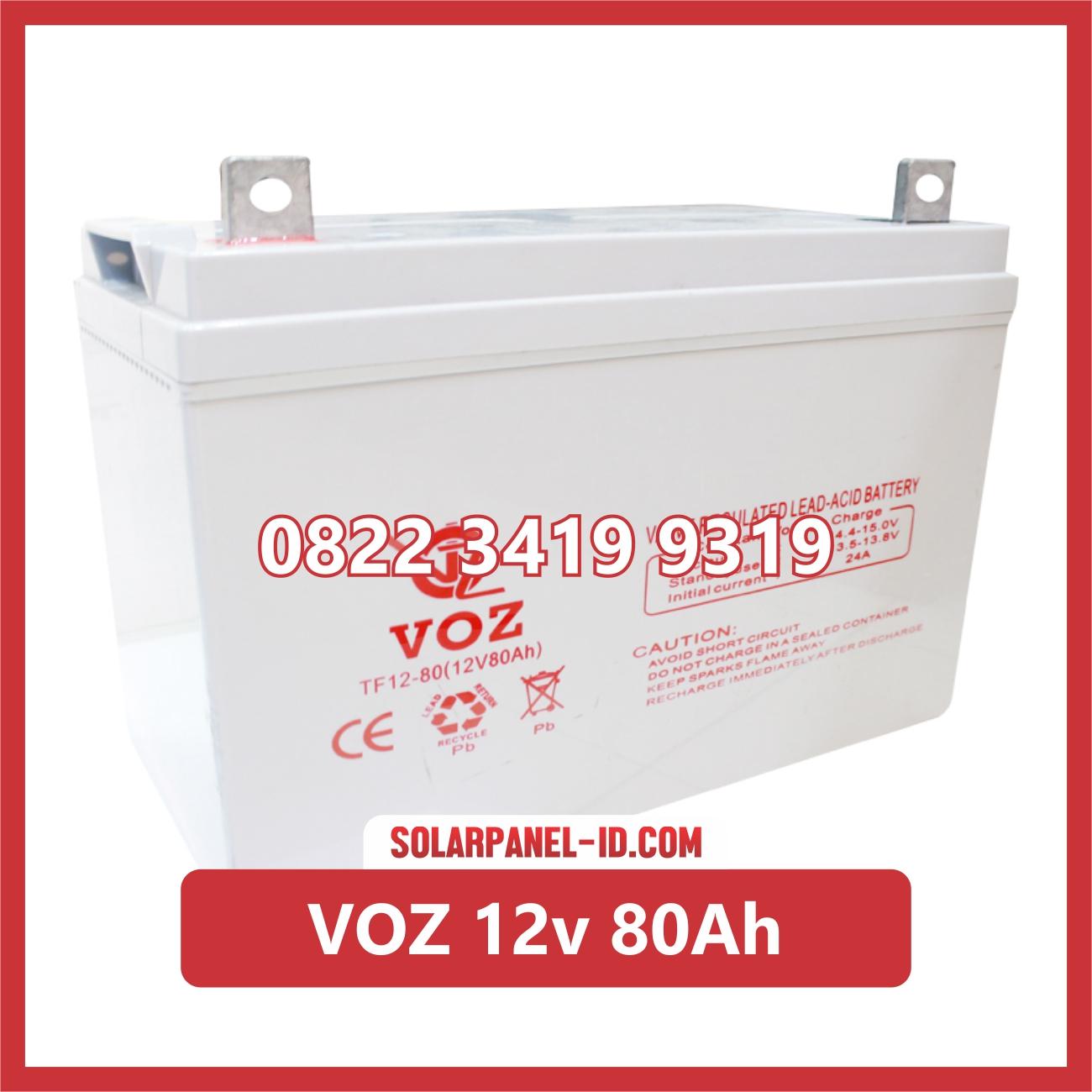 Aki Solar Cell VOZ 12v 80Ah