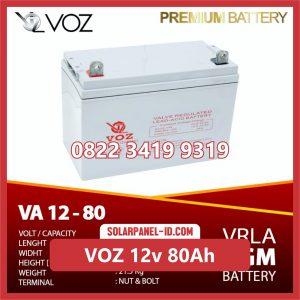 VOZ baterai kering 12v 80Ah baterai pju tenaga surya