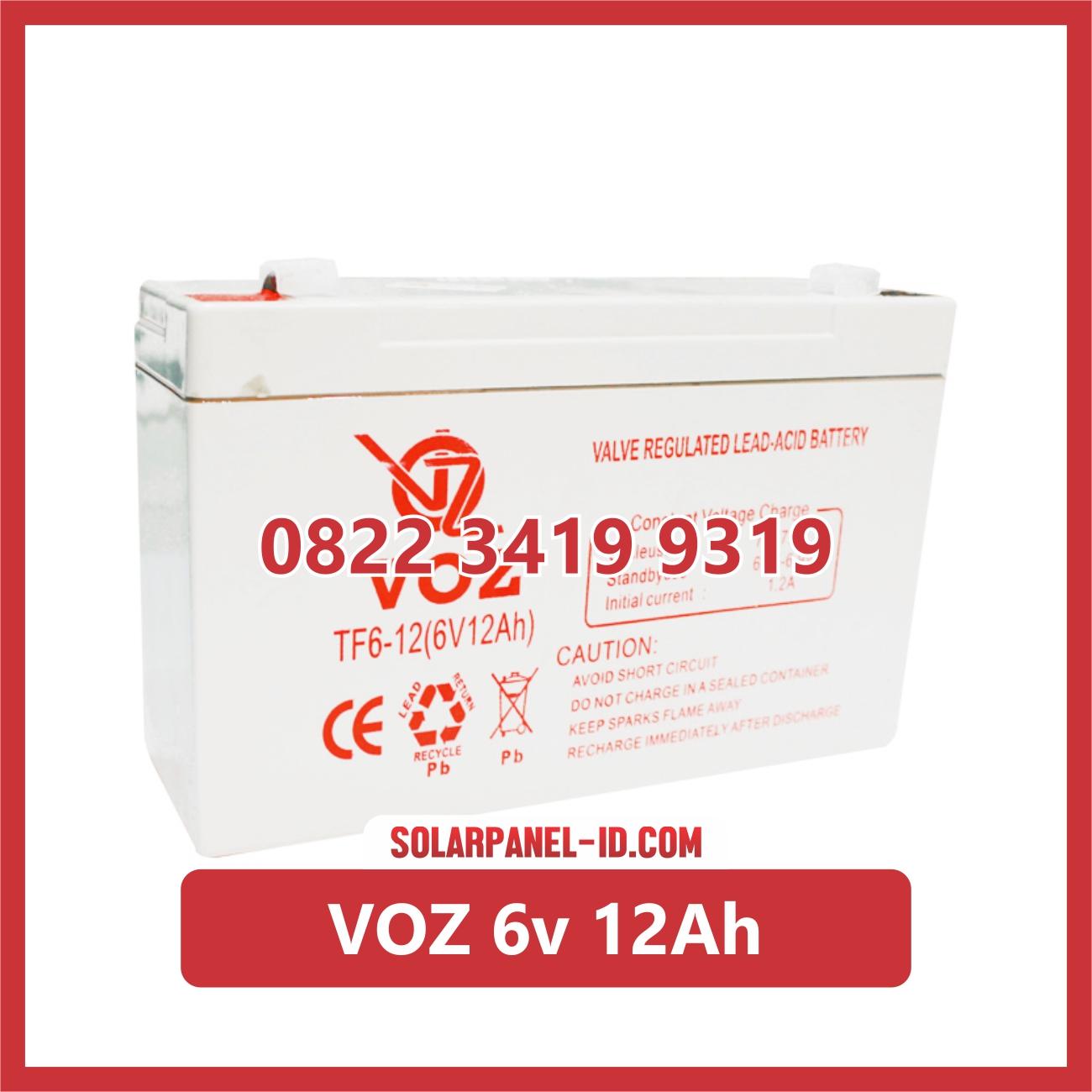 VOZ baterai kering 6v 12Ah baterai emergency