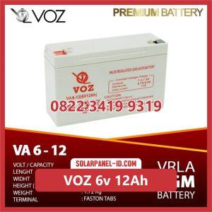 VOZ baterai kering 6v 12Ah baterai ups