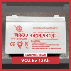 VOZ baterai kering 6v 12Ah baterai panel surya