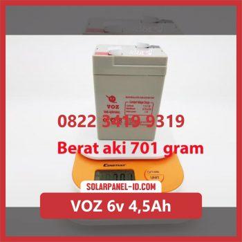 VOZ baterai kering 6v 4,5Ah baterai emergency