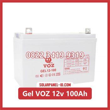 VOZ baterai kering gel 12v 100ah baterai panel surya