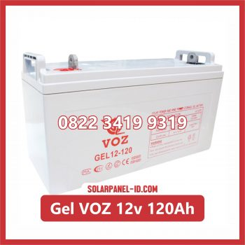 VOZ baterai kering gel 12v 120ah baterai panel surya
