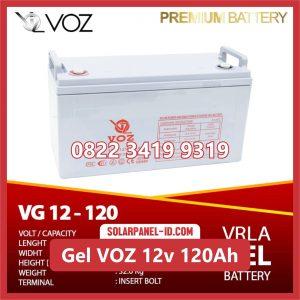 VOZ baterai kering gel 12v 120ah baterai pju tenaga surya