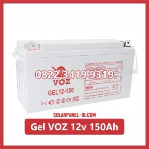 VOZ baterai kering gel 12v 150ah baterai panel surya