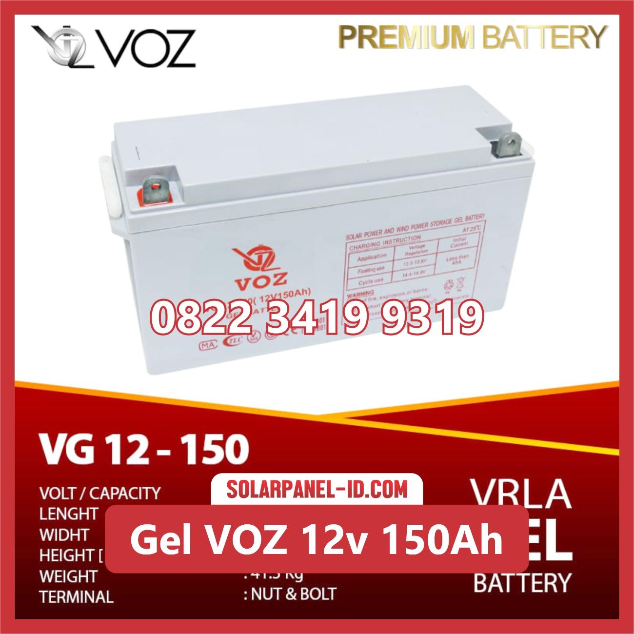 VOZ baterai kering gel 12v 150ah baterai pju tenaga surya