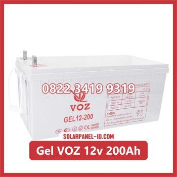 VOZ baterai kering gel 12v 200ah baterai panel surya