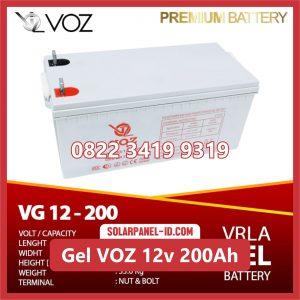 VOZ baterai kering gel 12v 200ah baterai pju tenaga surya