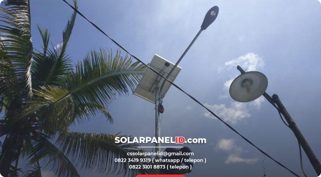 jual lampu pju solarcell 50watt murah bergaransi