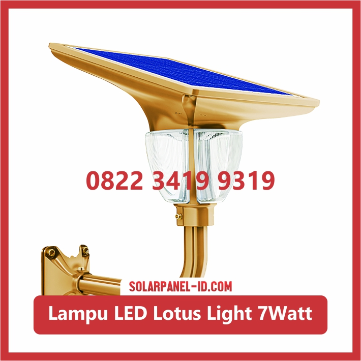 Harga Lampu Taman Tenaga Surya Lotus Light 7watt