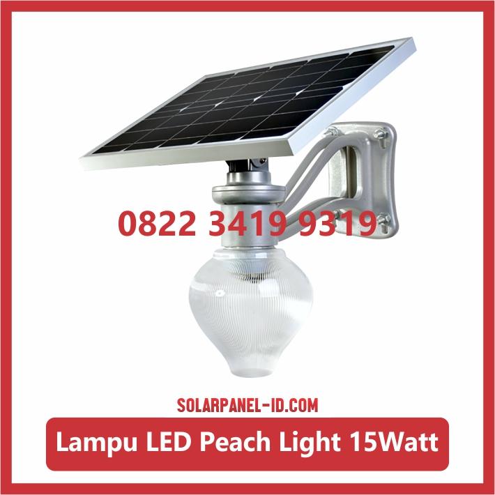 Jual Lampu Taman Tenaga Surya Peach Light 15watt Solarpanel Id